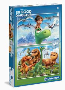 Clementoni Puzzle  2x60 Good Dinosaur