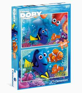 Clementoni Puzzle  2x60 Dory