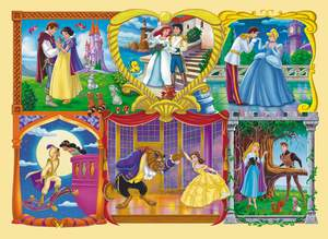 Clementoni Rámčekové puzzle 30 Princezny