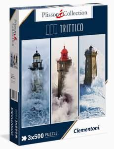 Clementoni Puzzle 3x500 Plisson, Lighthouses