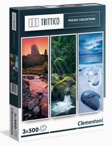 Clementoni Puzzle 3x500 Nature