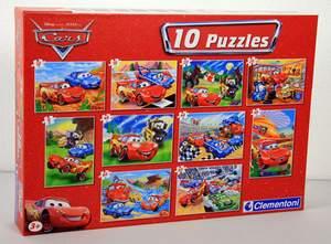 Clementoni Sada puzzle 10 v 1 Auta