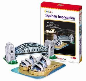 CubicFun Puzzle 3D Pamiatky Sydney