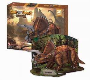 CubicFun Puzzle 3D Triceratops