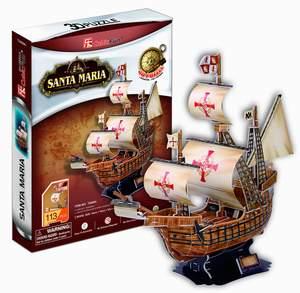 CubicFun Puzzle 3D Loď Santa Maria