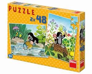 Dino Puzzle 2x48 Krtkov svet