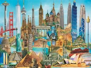 Ravensburger Puzzle 3000  Najznámejšie stavby sveta