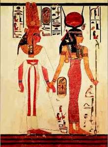 Editions Ricordi Puzzle 1000 Nefertari preceded by Goddess Isis