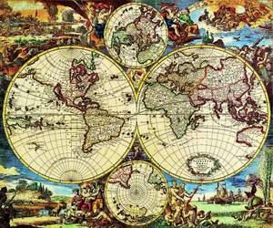 Editions Ricordi Puzzle 2000 Mapa sveta