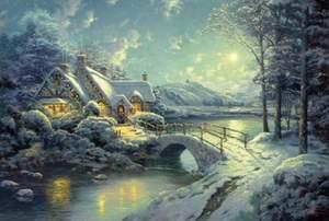Schmidt Puzzle 500 Christmas Moonlight