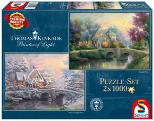 Schmidt Puzzle 2x1000 Lamplight Manour/Winter in Lamplight Manour